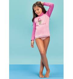 Blusa anti uv - rash guard menina Light Uv Ice Cream