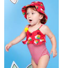 Conjunto maiô e chapéu de bebê Abacaxi Baby