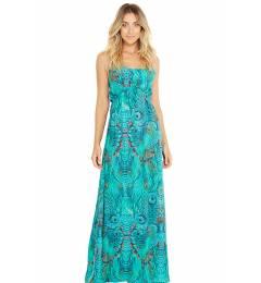 Vestido longo pavao blue Adelina Fantastic