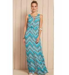 Vestido longo detalhe decote Vestido Kyara