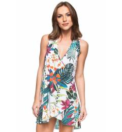 Vestido floral transpassado Beleza Do Caribe