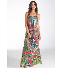 Vestido longo estampado Flores De Ipanema