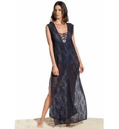 Vestido longo renda transparente - Saida Strappy Noite