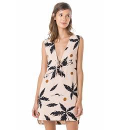 Vestido curto coqueiro praia - Vestido Decote Profundo