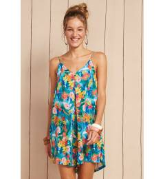 Slip dress floral Macaquinho Manu