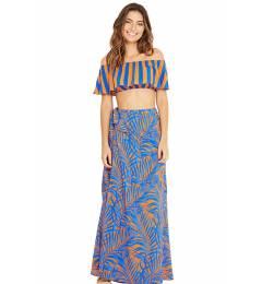 Saia longa folhagem blue Mambo Cayena