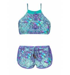 Biquini crop top e short Papillon Set