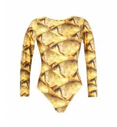 Maiô manga longa Body Peixe Dourado