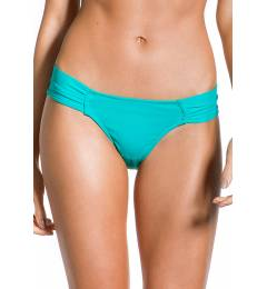 Calcinha lisa azul franzida - Bottom Transparency Turquoise