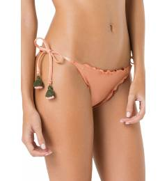 Calcinha rose frufru pompom color - Bottom Frufru Liso Coral