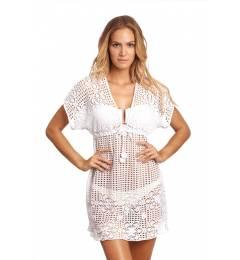 Sa�da De Praia branca Despi Crochet Dress