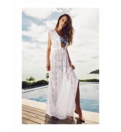 Vestido longo branco Machu-pichu