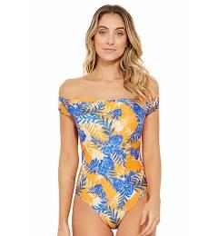 Maio ombro a ombro floral azul Carmen Solar