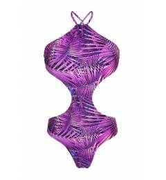 Maiô Roxo Tropical Body Recorte Ultra Violet