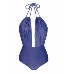 Body decote lurex day Radiante Azul Decote Profundo