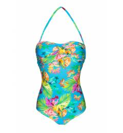 Maio torcido tropical azul Tropical Blue One Piece