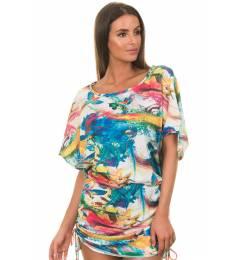 Sa�da De Praia print araras Fly Dress
