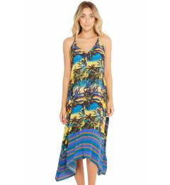 Vestido midi floral - Bali Entardecer