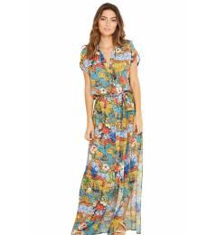 Vestido longo praia multicolorido Ivy Hemisferio