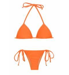 Biquini cortininha laranja Itaparica Tri