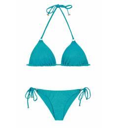 Biquíni de lurex azul com brilho Radiante Azul Arg Tri