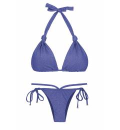 Biquíni 5 em 1 de lurex azul marinho Radiante Azul Marinho Multi