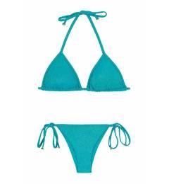 Biquíni cortinha com lacinho azul com brilho Radiante Azul Tri