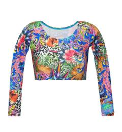 Top cropped manga longa Soutien Bigua Tropical