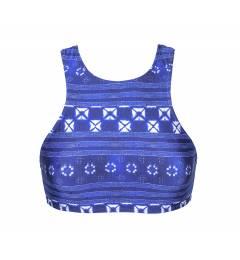 Top cropped listrado azul Soutien Cool Jean Sporty