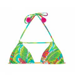 Top triangulo floral bola Soutien Paradise Green Detail