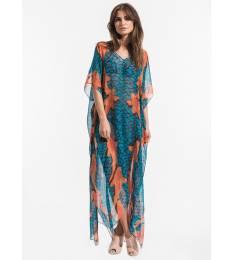 Vestido longo Dress Carpas Azul